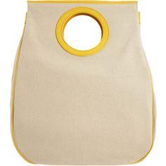 Balenciaga Edition Ottoman Dupionne Tote - Natural/Yellow (44.500 RUB) ❤ liked on Polyvore featuring bags, handbags, tote bags, purses, bolsas, borse, handbags & purses, luggage, women and handbag purse