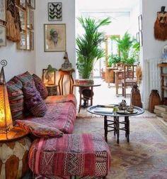 Bohemian decor #interior #boho