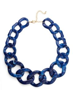 Sapphire Chunky Chain Collar - Necklaces - Shop by Category | BaubleBar