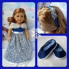 Holiday dress, shoes, and headband by Up Owl Night Crafting on Etsy - pinned by pin4etsy.com