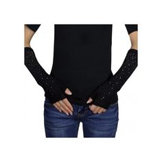 Fashion Sparkling Rhinestone Fingerless Light Acrylic Arm Warmer... ($13) ❤ liked on Polyvore featuring accessories, gloves, fingerless arm warmers, stretch gloves, sparkly gloves, rhinestone gloves and long fingerless gloves