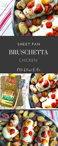 Need an easy weeknight meal? Try this sheet pan Chicken Bruschetta with Rosemary Roasted Potatoes #SimpleSwap AD