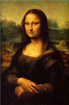 Mona Lisa (La Gioconda) ~ Leonardo Da Vinci, Italian (1452-1519)  -  Musée du Louvre ~ Paris