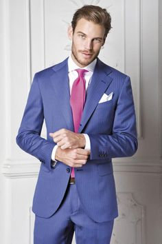 Sartoria Rossi. Bespoke. Men's Suit >> Not too fond of the blue, but that face is everything!