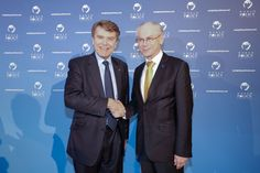WPC 2013, Monaco - Thierry de Montbrial, President and Founder of the WPC; Herman van Rompuy, President of the European Council