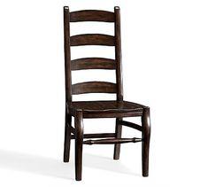 Wynn Ladderback Side Chair, Rustic Brown finish