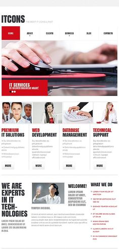 simple metro-style corporate web design