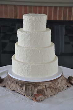 Wedding Cake Before Flowers. #weddingcake