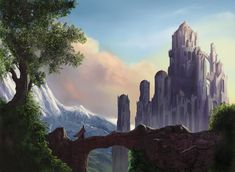 castle in the mountains by digital-fantasy.deviantart.com on @deviantART