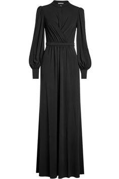 Alexander Mcqueen Draped Floor Length Dress In Black Formal Dresses With Sleeves, Simple Dresses, Elegant Dresses, Beautiful Dresses, Abaya Fashion, Muslim Fashion, Modest Fashion, Fashion Dresses, Hijab Evening Dress