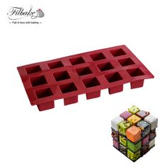 Check Discount Filbake 2017 New Arrive High Quality 15 Cavity The Magic Square Mousse Cake Molds Silicone #Magic #Squares