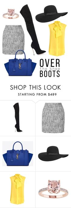 """""""Untitled #73"""" by everydaytalks on Polyvore featuring Casadei, Oscar de la Renta, Yves Saint Laurent and Moschino"""