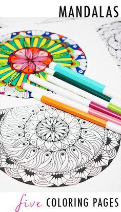 mandala 5 coloring pages
