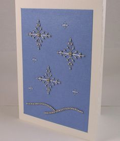 Hand Stitched Beaded Stars Greeting Card by IndigoLimes on Etsy, $6.00