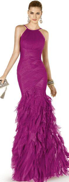 Fuschia gown