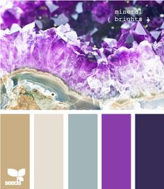 mineral brights, wedding colors