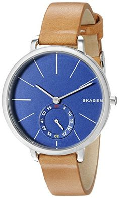 Women's Wrist Watches - Skagen Womens SKW2355 Hagen Light Brown Leather Watch ** Visit the image link more details. (This is an Amazon affiliate link)