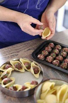 Recette de conchiglioni aux boulettes à l'orientale - #aux #boulettes #conchiglioni #lorientale #recette