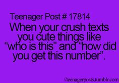 Teenager Posts. Lol