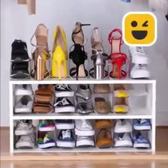 Home Discover Adorable 42 Smart Shoe Storage And Organization Ideas To Try Asap Diy Furniture Videos Diy Furniture Projects Furniture Plans Diy Home Crafts Diy Home Decor Diy Garden Decor Wand Organizer Diy Shoe Organizer Diy Para A Casa Wand Organizer, Diy Shoe Organizer, Shoe Rack Organization, Bedroom Organization, Diy Furniture Videos, Furniture Projects, Furniture Plans, Diy Shoe Rack, Shoe Racks