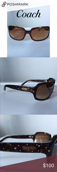 Coach tortoise sunglasses Coach brown tortoise sunglasses. No scratches or damage! Coach Accessories Sunglasses
