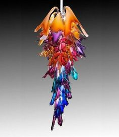 Barry Entner – Corona, actual Size h x w x steam blown glass, steel armature Reminds me of Murano glass chandelier that I wanted! Art Of Glass, Blown Glass Art, Stained Glass Art, Stained Glass Windows, Mosaic Glass, Glass Craft, Murano Glass, Fused Glass, Venetian Glass