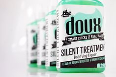 THE SILENT TREATMENT Bodifying Liqueur by The DOUX, For Smart Chicks With Real Hair- BOUNCE, BODY, AND SHINE  for natural hair www.thedoux.com