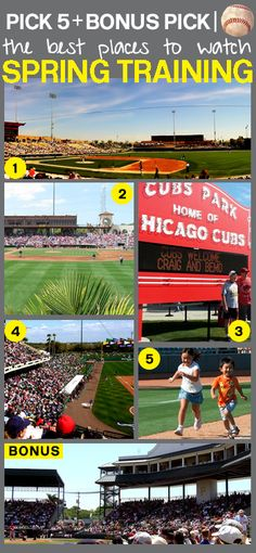 Pick 5: The Best Places to Watch Spring Training - Baseball season is almost here! We pick 5 spots to catch your favorite teams in Florida (the Grapefruit League) and Arizona (the Cactus League) throughout March.