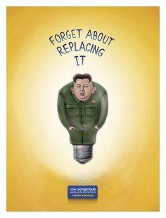 Case: Light bulb イスラエルで照明器具メーカーLighting Warehouseが実施した、LED電球を訴求するためのプリント広告。  各国首脳を使ったそのクリエイティブがこち