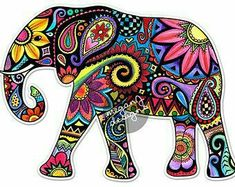 hippie tattoo 611856299349924279 - Elephant Car Decal Colorful Design Bumper Sticker Laptop Decal Pink Green Teal Yellow Jungle Flowers Cute Car Decal Hippie Boho Tribal Source by Tribal Elephant, Colorful Elephant, Small Elephant, Indian Elephant Art, Mandala Elephant, Cute Car Decals, Jungle Flowers, Arte Fashion, Afrique Art