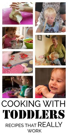 Cooking with Toddlers is possible and you can do it - here's recipes that you and your toddler can really cook and some tips for making it happen.