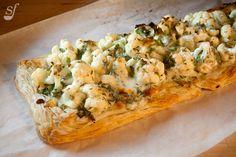 Cauliflower and cheddar pie from Steph joue au chef