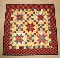 Scrappy Stars and Patches doll quilt