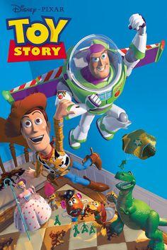 Pixar Film Toy Story by Walt Disney movie cover Film Pixar, Pixar Movies, Kid Movies, Family Movies, Movies Free, Movie Film, Watch Movies, Animation Movies, Computer Animation