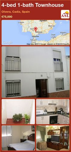 Townhouse for Sale in Olvera, Cadiz, Spain with 4 bedrooms, 1 bathroom - A Spanish Life Murcia, Cadiz Spain, Family Bathroom, Large Bedroom, Entrance Hall, Reception Rooms, Second Floor, Ground Floor, Nice View