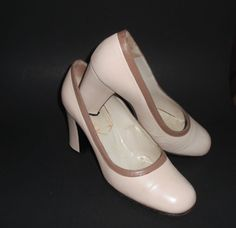 Stylish FRENCH ALL LEATHER Wide Three Inch Heels in by ChloeBeez, $37.00