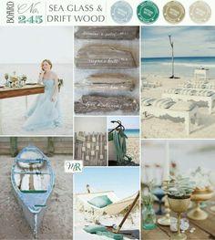 Sea glass & drift wood