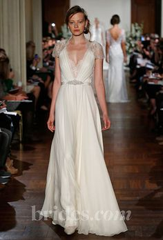 Brides.com: Fall 2013 Wedding Dress Trends. Trend: Old Hollywood-Inspired Wedding Dresses. Gown by Jenny Packham  See more Jenny Packham wedding dresses in our gallery.