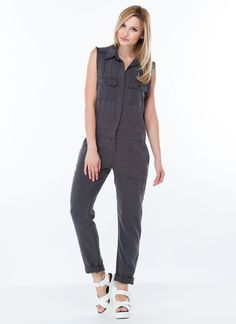 Utility Player Coverall Jumpsuit GREY- GoJane.com