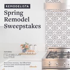 I just entered for a chance to win $20k from Remodelista plus $5k of tile from Fireclay Tile! Enter here for your chance to win.