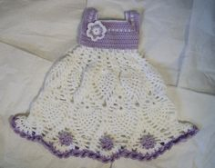 Crochet Baby Dress - Part of the Purple Baby Summer Collection exclusive from crochelina~ $59.99 Super cute baby shower gift