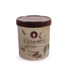 Talenti Tiramisu gelato. What do you do when you love a dessert? You make it proud. Our Tiramisu gelato elaborates upon its Italian foundation with hints of coffee, Marsala wine, Amaretto, mascarpone cheese and a dulce de leche ribbon. Here's looking at you, Tiramisu.