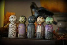 Halloween peg doll set-Made to order