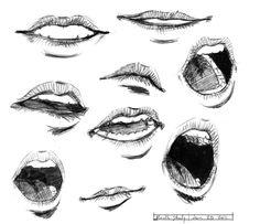 mouth study by BlackMoonDeath.deviantart.com on @DeviantArt