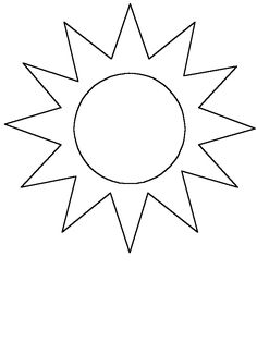 Simple-shapes # Sun Coloring Pages & Coloring Book
