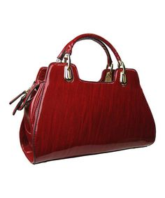 Love this Red Lacquer Shoulder Bag by AR New York on #zulily! #zulilyfinds