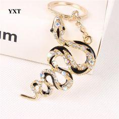Snake Crystal Charm Key chain