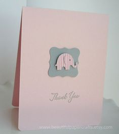 Thank You Baby Elephant Cards- Baby Shower cards