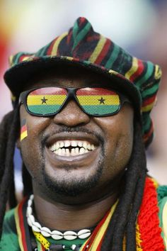 This is one soccer fan in Ghana. Ghana Football, Ghana Flag, African Shop, People Brand, Soccer Fans, Flag Design, Fast Growing, People Around The World, Ethiopia
