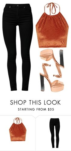 """Orange is the new black"" by baludna ❤ liked on Polyvore featuring The Ragged Priest, Cheap Monday and Giuseppe Zanotti"